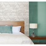 "WallPops! Grey and White 18' x 20.5"" Brick Peel And Stick Wallpaper Roll WPP1622"