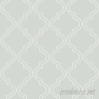 WallPops! Grey Quatrefoil 18' x 20.5 Peel And Stick Wallpaper WPP1619