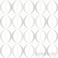 WallPops! Nu 18' x 20.5 Circulate Light Silver Wallpaper Roll WPP2169