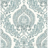 WallPops! Nu 18' x 20.5 Kensington Damask Blue Wallpaper Roll WPP2167