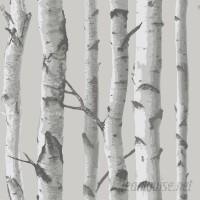 WallPops! Nu 18' x 20.5 Mountain Birch Gray Wallpaper Roll WPP2160