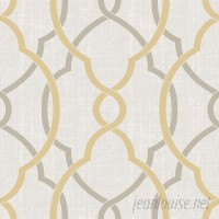 WallPops! Nu 18' x 20.5 Sausalito Taupe / Yellow Peel and Stick Wallpaper WPP2161