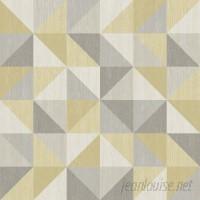 WallPops! NuWallpaper Jigsaw Peel and Stick 18' x 20.5 Geometric Roll Wallpaper WPP2234