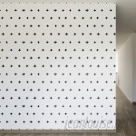 "Walls Need Love Inked Swiss Cross Removable 8' x 20"" Wallpaper WANL2658"