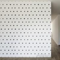 Walls Need Love Inked Swiss Cross Removable 8' x 20 Wallpaper WANL2658