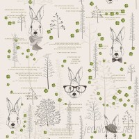 Walls Need Love Lucky Rabbit Removable 5' x 20 Floral Wallpaper WANL2796