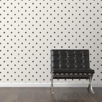 Walls Need Love Scribble Removable 10' x 20 Polka Dot Wallpaper WANL3020