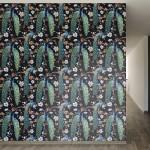 "Walls Need Love Victorian Peacock Removable 8' x 20"" Wallpaper WANL2598"