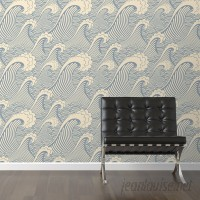 Walls Need Love Waves of Chic Removable 10' x 20 Abstract Wallpaper WANL2709