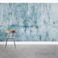 Wallums Wall Decor Chipped Blue Concrete 8' x 144 3 Piece Wall Mural WWDR1132