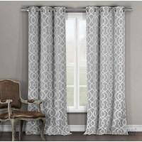 Alcott Hill Hornell Geometric Light Filtering Thermal Grommet Curtain Panels ALTL1174