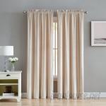 Alcott Hill Kiker Velvet Solid Room Darkening Rod Pocket Curtain Panels AAUB2586