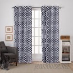 Amalgamated Textiles Scrollwork Geometric Blackout Thermal Grommet Curtain Panels EXCH1197