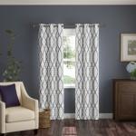 Andover Mills Torr Geometric Semi-Sheer Grommet Single Curtain Panel ANDV1052