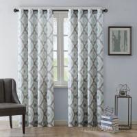 Andover Mills Wilson Ikat Semi-Sheer Grommet Single Curtain Panel ANDV4044