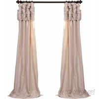 Astoria Grand Hallman Ruched Faux Silk Taffeta Thermal Rod Pocket Single Curtain Panel ASTG8756