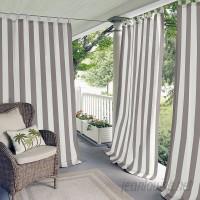 Beachcrest Home Berklee Striped Room Darkening Outdoor Tab Top Single Curtain Panel BCMH1997