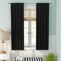 Beachcrest Home Evangelina Solid Room Darkening Thermal Rod Pocket Single Curtain Panel BCMH2808