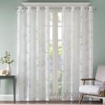 Beachcrest Home Gouverneur Nature/Floral Sheer Grommet Single Curtain Panel BCMH2860