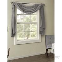 Charlton Home Bruggeman Solid Sheer Rod Pocket Window scarf CHRL6701