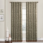 Charlton Home Buren Damask Blackout Thermal Rod Pocket Single Curtain Panel CHRL8643