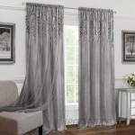 Charlton Home Goldston Geometric Semi-Sheer Rod Pocket Single Curtain Panel CHRL8209