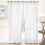 Charlton Home Meyersdale Elegant Solid Color Semi Sheer Indoor Grommet Panel Pair GGGR1165