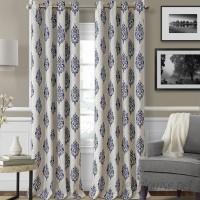 Elrene Home Fashions Navara Ikat Max Blackout Thermal Grommet Single Curtain Panel EHFA1179