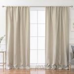 Gracie Oaks Reyna Solid Blackout Thermal Rod Pocket Single Curtain Panel GRKS8098