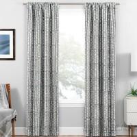 Harriet Bee Clarwin Geometric Blackout Thermal Rod Pocket Single Curtain Panel HBEE4330