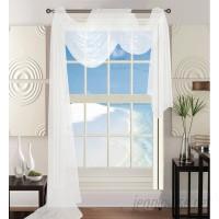 House of Hampton Agawam Solid Sheer Window Scarf HOHM5611