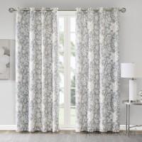House of Hampton Jocelyn Lily Floral Room Darkening Grommet Curtain Panels HMPT3739