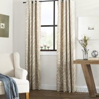 Laurel Foundry Modern Farmhouse Baillons Nature/Floral Room Darkening Thermal Grommet Curtain Panels LRFY6591