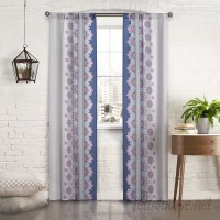 Pairs to Go Mantra Floral/Flower Semi-Sheer Thermal Rod Pocket Curtain Panels PATG1011
