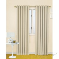 Prestige Home Fashion Solid Blackout Thermal Grommet Single Curtain Panel PRHF1001
