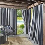 Sun Zero Outdoors Valencia UV Protectant Cabana Stripe Grommet Single Curtain Panel TDCP1000