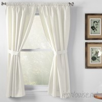 Wayfair Basics™ Wayfair Basics Solid Semi-Sheer Rod Pocket Bathroom Curtain Panels WFBS1206