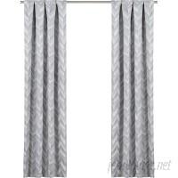 Zipcode Design Avah Chevron Blackout Thermal Rod Pocket Single Curtain Panel ZIPC8557