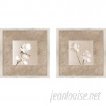 Alcott Hill 'Lotus Duo' 2 Piece Framed Graphic Art Print Set on Glass ALTH1360
