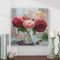 Alcott Hill 'Rose Society' Oil Painting Print on Wrapped Canvas ACOT8249