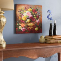 Alcott Hill Roses from a Victorian Garden by Albert Williams Painting Print on Wrapped Canvas ALCT2074