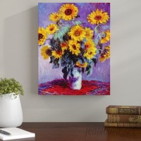 Andover Mills 'Sunflowers' by Claude Monet Painting Print on Canvas ADML2036