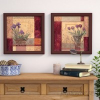 Andover Mills 'Tulip Solitaire' 2 Piece Framed Acrylic Painting Print Set on Glass ANDV2018