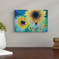 Andover Mills Supermassive Sunflowers Painting Print on Wrapped Canvas ANDO6755