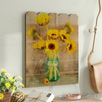 August Grove 'Country Sunflowers' Graphic Art Print on Wood AGTG4775