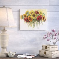 August Grove 'Gathering Sunflowers' Painting Print on Wrapped Canvas AGGR6765