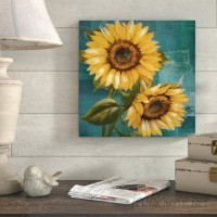 August Grove 'Sunflower II' Painting Print on Wrapped Canvas AGTG3213