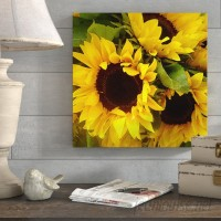 August Grove 'Sunflowers' Photographic Print on Wrapped Canvas AGRV4418