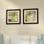 Bay Isle Home 'Palm Coast' 2 Piece Framed Graphic Art Print Set BYIL1275