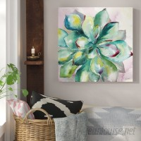 Bungalow Rose 'Succulent' Print on Wrapped Canvas BGRS1688